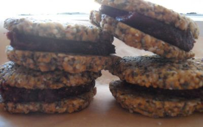 Super Seed Sandwich Cookies with Fig and Apple Butter Jam