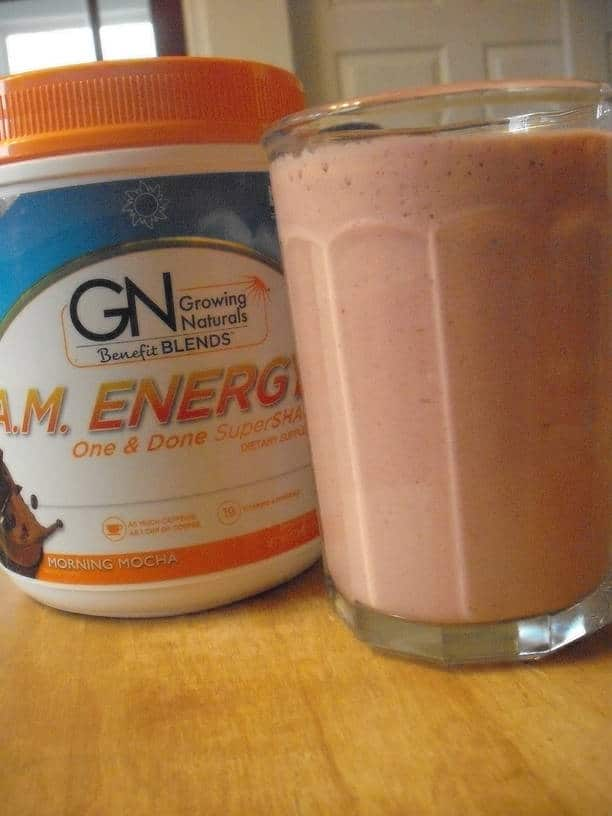 Kefir Smoothies with Growing Naturals A.M. Energy One & Done SuperShake