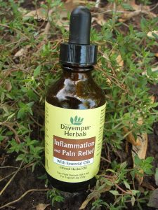 2 oz. bottle of Dayempur Herbals Inflammation and Pain Relief with Essential Oils