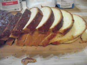 brioche loaf sliced
