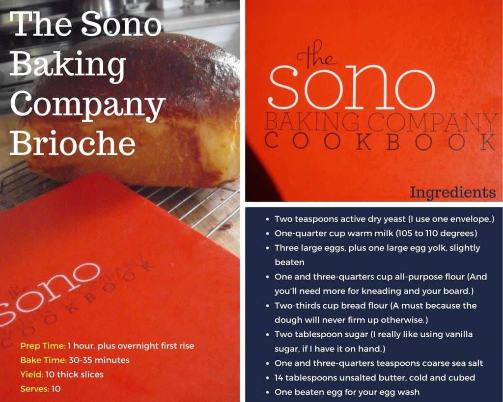 cover shot for brioche recipe from the Sono Baking Company Cookbook