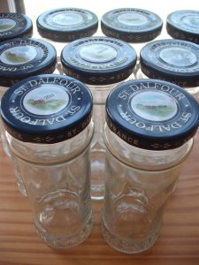 empty jar collection of St. Dalfour jams
