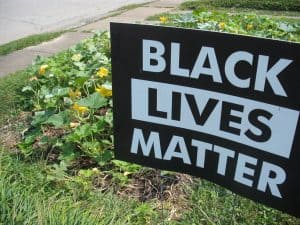 BLM sign in pumpkin patch