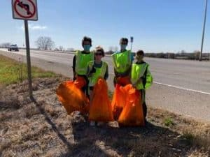 Bring Your Own Glen-Ed Volunteers at clean up site