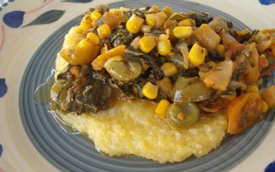Down Home Cooking: Collards with Creamy Corn Grits
