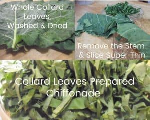 photos of collard preparation