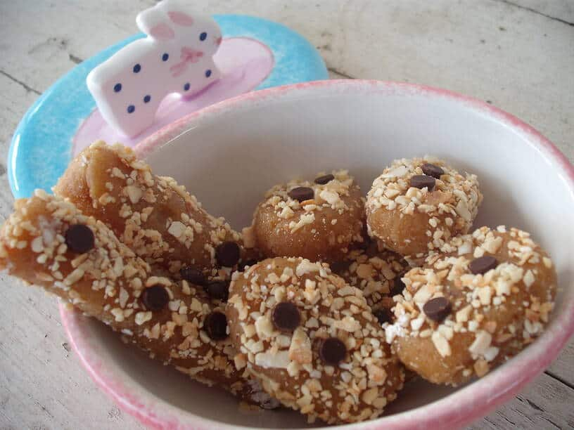Nutty Candies in an Easter-inspired bowl
