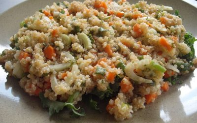 Carrot and Fennel Top Quinoa Salad
