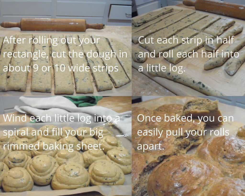 steps to shaping the rolls