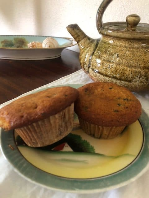 Lemon Corn Muffins with Mulberries and Sage