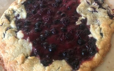 Spiced Roasted Plum and Blackberry Galette with Sugar Cookie Crust