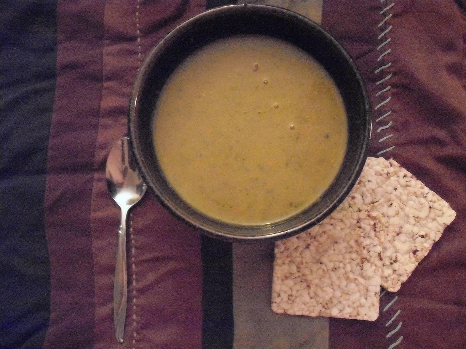 Creamed Broccoli and Sweet Potato Soup