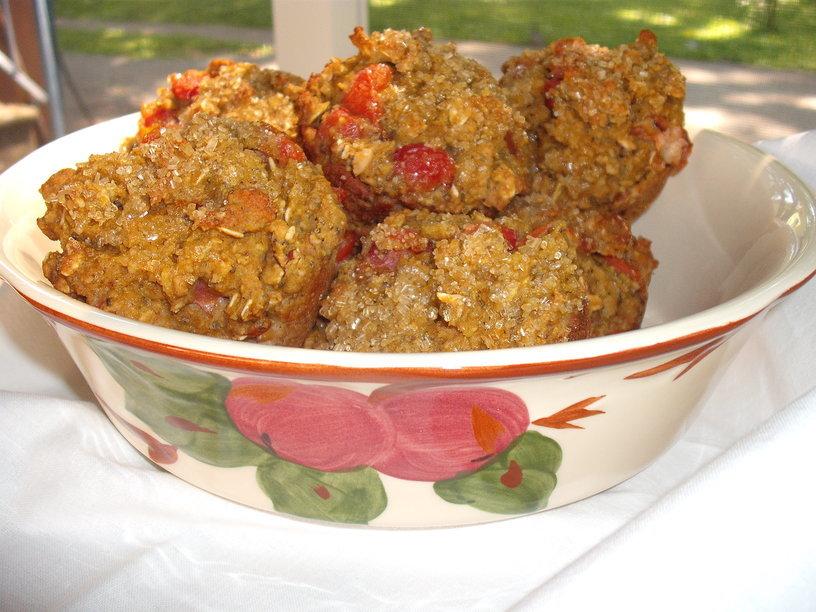 More Love Muffin Magic: Cherry Almond Oatmeal Delights