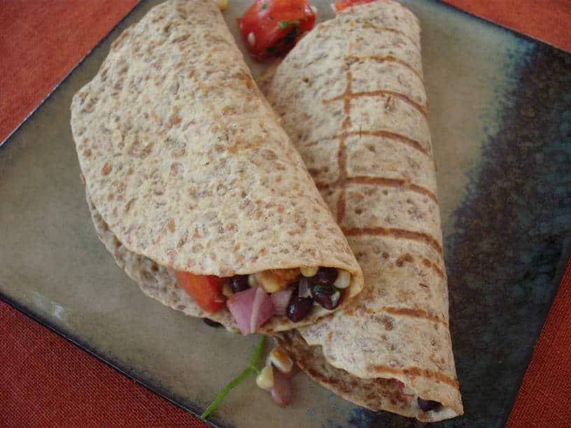 Black Bean & Corn Salad Burritos
