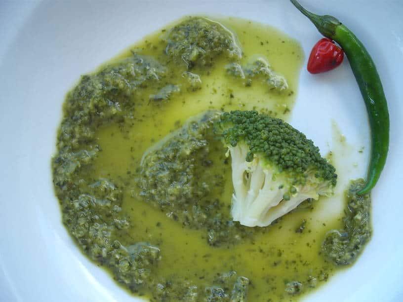 Broccoli Quinoa Salad with Green Gal Z'hug
