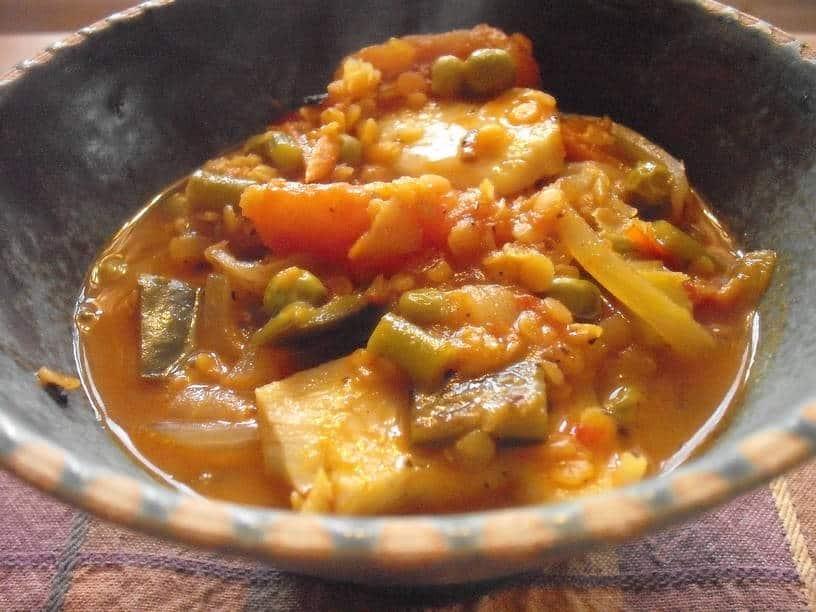 Fishy Red Lentil Dhal for Lent