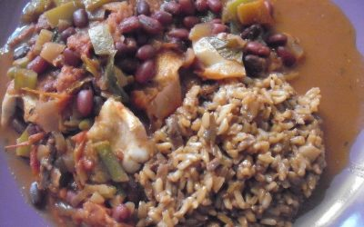 Green Gal Vegan Red Beans and Dirty Rice